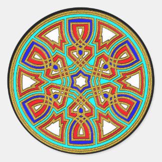 Weave Patterns Round Sticker