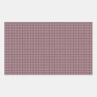Weave - Pink Rectangular Sticker