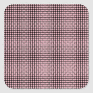 Weave - Pink Square Sticker