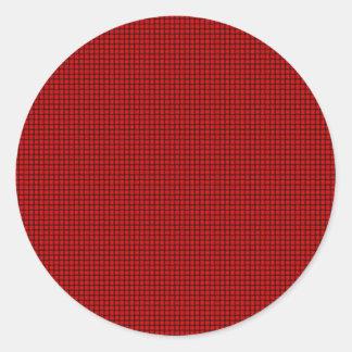 Weave - Red Round Sticker