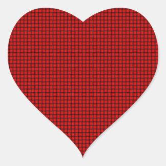Weave - Red Heart Sticker