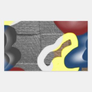Weave Rectangular Sticker