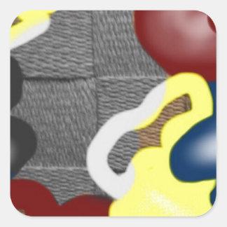 Weave Square Sticker