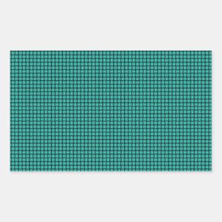 Weave - Turquoise Rectangular Sticker