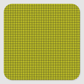 Weave - Yellow Square Sticker