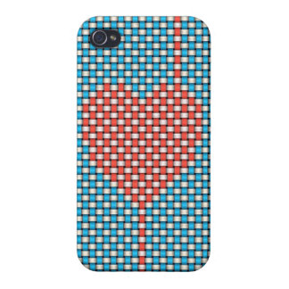 Weaved Heart Covers For iPhone 4