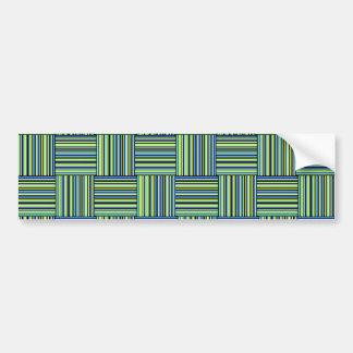 Weaved Stripes Bumper Sticker