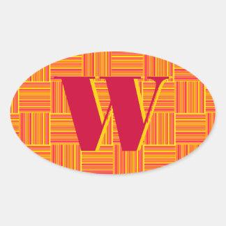 Weaved Stripes Oval Sticker
