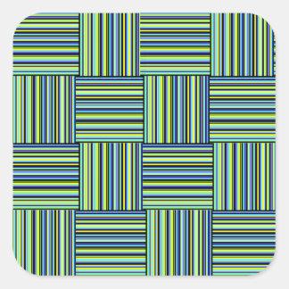 Weaved Stripes Square Sticker