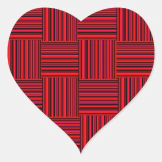 Weaved Stripes Heart Sticker