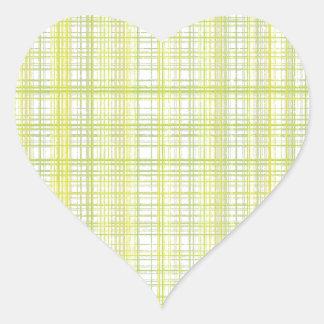 Weaved thread design heart sticker