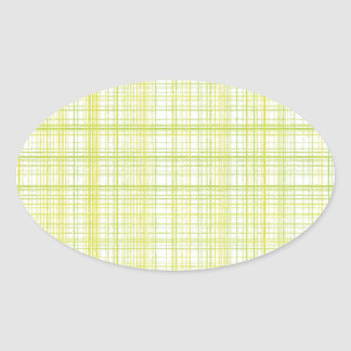 Weaved thread design oval sticker