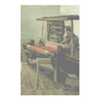 Weaver by Vincent Van Gogh Flyer Design