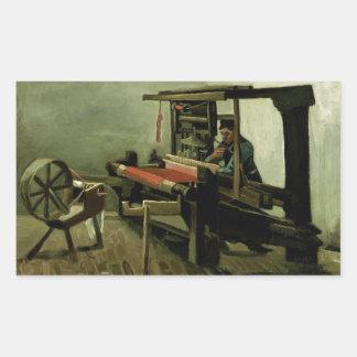 Weaver by Vincent Van Gogh Rectangular Stickers