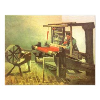Weaver Facing Left Spinning Wheel Vincent van Gogh Personalized Invitation