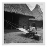 Weaver ~ Magdalenas, Chiapas, Mexico Print