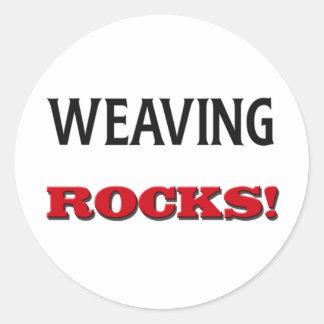 Weaving Rocks Sticker