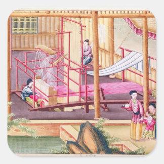 Weaving Square Sticker