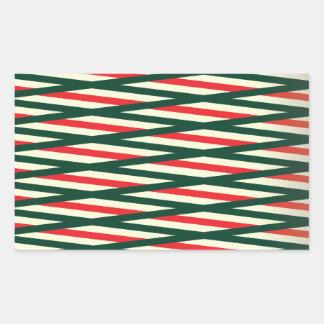 Weaving style cool design rectangular sticker