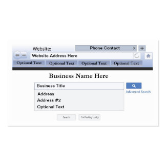 Web Browser Theme Business Card