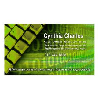 Web Design-1 Business Card template acid green