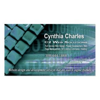 Web Design-1 Business Card template aqua