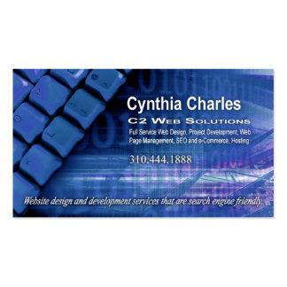 Web Design-1 Business Card template blue
