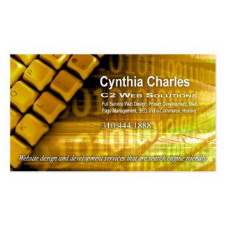 Web Design-1 Business Card template (gold)