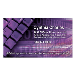 Web Design-1 Business Card template lilac