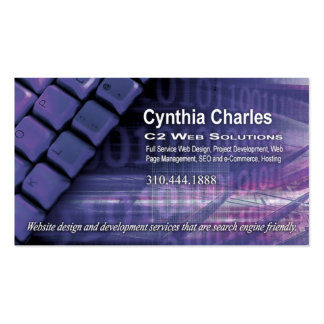 Web Design-1 Business Card template periwinkle