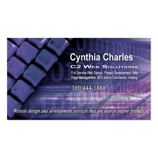 Web Design-1 Business Card template (periwinkle)