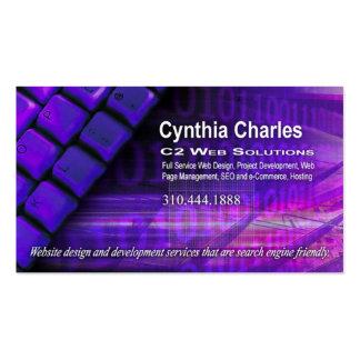 Web Design-1 Business Card template purple