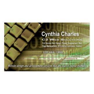 Web Design-1 Business Card template sage