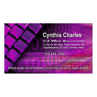 Web Design-1 Business Card template violet