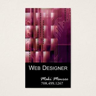 Web Design-2 Business Card template (mauve)