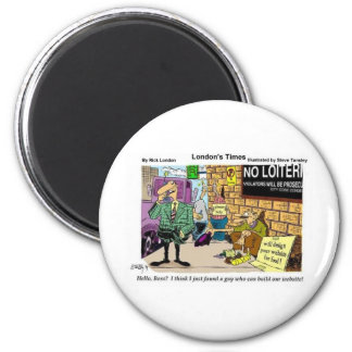 Web Design Beggar Funny Gifts Tees & Collectibles 6 Cm Round Magnet