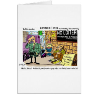 Web Design Beggar Funny Gifts Tees & Collectibles Greeting Card