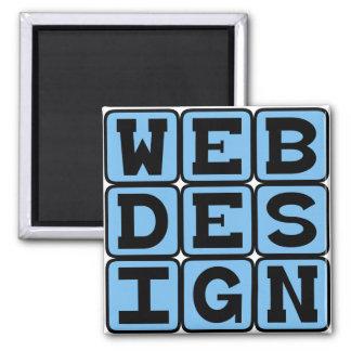Web Design, Building Websites Square Magnet