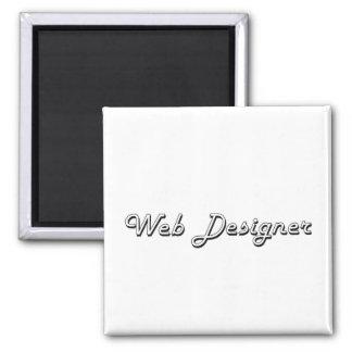 Web Designer Classic Job Design 2 Inch Square Magnet