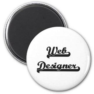Web Designer Classic Job Design 6 Cm Round Magnet