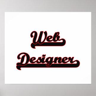 Web Designer Classic Job Design Poster
