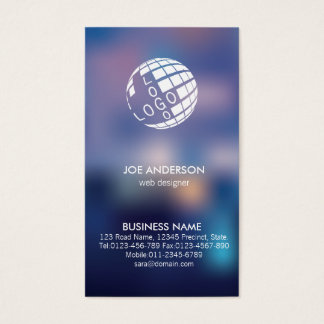 Web Designer IT Computer Blurred Spot Lights Business Card