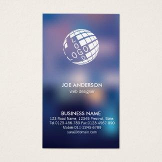 Web Designer IT Computer Blurred Spot Lights Business Card