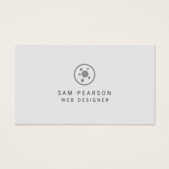 Web Designer Network Points Icon Internet Business Card
