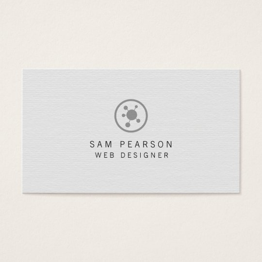 Web Designer Network Points Icon Internet Business Card