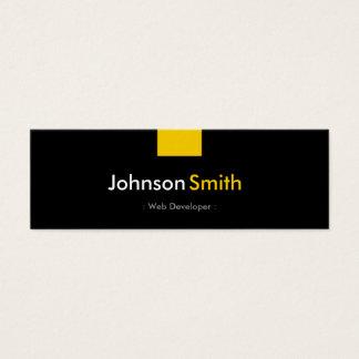 Web Developer - Amber Yellow Compact Mini Business Card