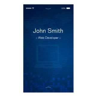 Web Developer - Apple iOS Customizable Flat Design Pack Of Standard Business Cards