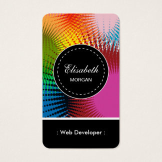 Web Developer- Colorful Abstract Pattern Business Card