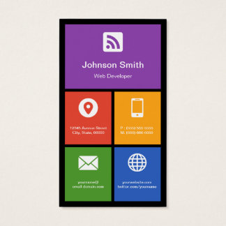 Web Developer - Colorful Tiles Creative Business Card