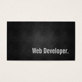 Web Developer Cool Black Metal Simplicity